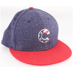 Jason Heyward Cubs 4th of July Game-Used New Era Fitted Baseball Hat (MLB Hologram)