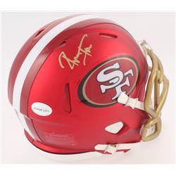 Ronnie Lott Signed 49ers Mini Blaze Speed Helmet (Radtke COA  Lott Hologram)