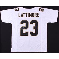 Marshon Lattimore Signed Saints Jersey (Radtke COA  Lattimore Hologram)
