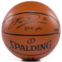 """Dirk Nowitzki Signed Limited Edition NBA Game Ball Series Basketball Inscribed """"30k PTS"""" (Panini COA"""