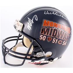 """""""Monsters of the Midway"""" Bears Full-Size Authentic On-Field Helmet Signed by (3) with Mike Singletar"""