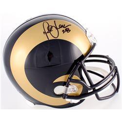 Marshall Faulk Signed Rams Full-Size Helmet (JSA COA)