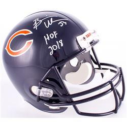 """Brian Urlacher Signed Bears Full-Size Helmet With Inscribed """"HOF 2018"""" (JSA COA)"""