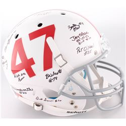 1953-73 Oklahoma Sooners Full-Size Helmet Signed by (12) With Bill Krisher, Clendon Thomas, Jay O'Ne