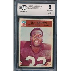 1966 Philadelphia #41 Jim Brown (BCCG 8)