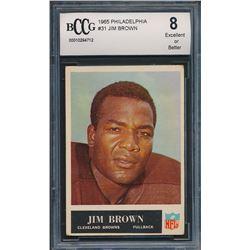 1965 Philadelphia #31 Jim Brown (BCCG 8)