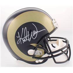 Kurt Warner Signed Rams Full-Size Helmet (Radtke COA  Warner Hologram)