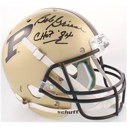 "Bob Griese Signed Purdue Boilermakers Full-Size Helmet Inscribed ""CHOF 84"" (JSA COA)"