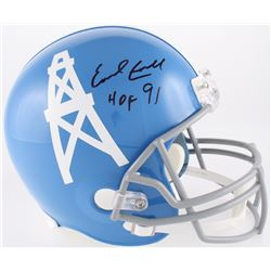 "Earl Campbell Signed Oilers Full-Size Throwback Helmet Inscribed ""HOF 91"" (JSA COA)"