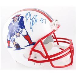 Rob Gronkowski Signed Patriots Full-Size Throwback Helmet (Radtke COA)