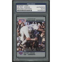 Lee Roy Jordan Signed 1990-91 Pro Set Super Bowl 160 #89 (PSA Encapsulated)