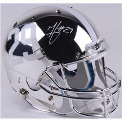 Minka Fitzpatrick Signed Alabama Crimson Tide Full-Size Chrome Helmet (Radtke COA  Fitzpatrick Holog