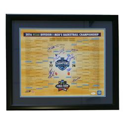 Villanova Team National Champions 22x27 Custom Framed Photo Display Signed by (8) with Kris Jenkins,