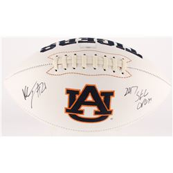 "Kerryon Johnson Signed Auburn Tigers Logo Football Inscribed ""2017 SEC OPOY"" (Radtke COA)"