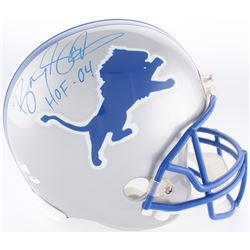 "Barry Sanders Signed Lions Full-Size Helmet Inscribed ""HOF 04"" (Radtke Hologram  Schwartz Hologram)"