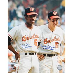 "Brooks Robinson  Paul Blair Signed Orioles 11x14 Photo Inscribed ""8x Gold Glove""  ""16x Gold Glove"" ("