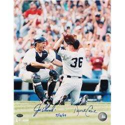 "Joe Girardi  David Cone Signed Yankees 11x14 Photo Inscribed ""7/18/99"" (FSC COA)"