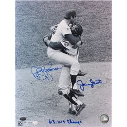 "Jerry Koosman  Jerry Grote Signed Mets 11x14 Photo Inscribed ""69 WS Champs"" (FSC COA)"