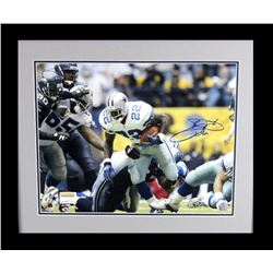 Emmitt Smith Signed Cowboys 23x27 Custom Framed Photo Display (Prova Hologram)
