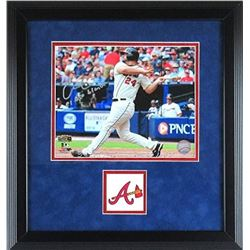 "Evan Gattis Signed Braves 15x17 Custom Framed Photo Display Inscribed ""El Oso Blanco"" (Radtke COA)"