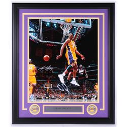 Kobe Bryant Signed Lakers 22.25x26.25 Custom Framed Photo Display (PSA COA)
