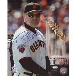 Bruce Bochy Signed Giants 8x10 Photo (FSC COA  Bruce Bochy Hologram)