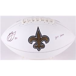 "Marshon Lattimore Signed Saints Logo Football Inscribed ""2017 DROY"" (Radtke COA)"