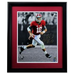 AJ McCarron Signed Alabama Crimson 23x27 Custom Framed Photo Display (Radtke COA  AJ McCarron Hologr