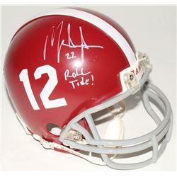"Mark Ingram Signed Alabama Crimson Tide Mini Helmet Inscribed ""Roll Tide!"" (Ingram Hologram  Upper D"