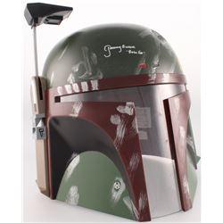 """Jeremy Bulloch Signed Star Wars """"Boba Fett"""" Full-Size Deluxe Edition Helmet Inscribed """"Boba Fett"""" (J"""