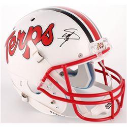 Stefon Diggs Signed Maryland Terrapins Full-Size Helmet (Radtke COA)