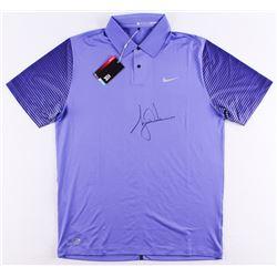 Tiger Woods Signed LE Purple Nike Golf Shirt (UDA COA)
