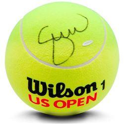Serena Williams Signed Jumbo Wilson Yellow Tennis Ball (UDA COA)
