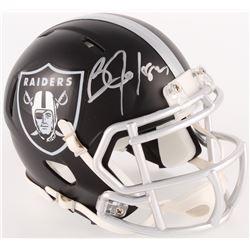 Bo Jackson Signed Raiders Mini Blaze Speed Helmet (Radtke COA  Jackson Hologram)