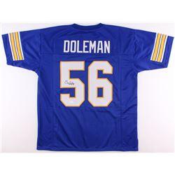 "Chris Doleman Signed Pittsburgh Panthers Jersey Inscribed ""HOF 12"" (JSA COA)"