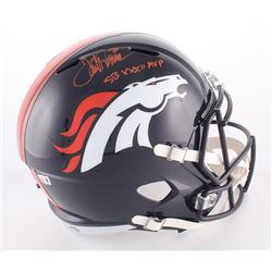 "Terrell Davis Signed Broncos Full-Size Speed Helmet Inscribed ""SB XXXII MVP"" (Davis COA)"