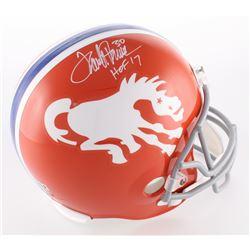 "Terrell Davis Signed Broncos Full-Size Helmet Inscribed ""HOF 17"" (Davis COA)"