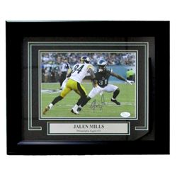 Jalen Mills Signed Eagles 14x17 Custom Framed Photo (JSA COA)