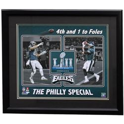 Trey Burton  Nick Foles Eagles 22x27 Custom Framed Photo Display