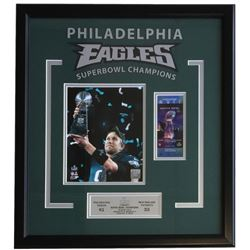 Nick Foles 23x25 Eagles Super Bowl 52 LII Custom Framed Photo Display