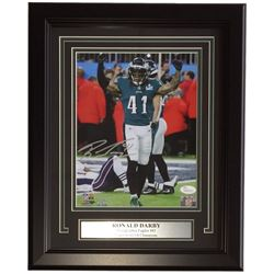 Ronald Darby Signed Eagles 11x14 Custom Framed Photo Display (JSA COA)