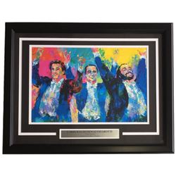 "Leroy Neiman ""Carreras Domingo Pavarotti"" 18x24 Custom Framed Print Display"
