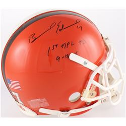 "Braylon Edwards Signed Browns Full-Size Authentic On-Field Helmet Inscribed ""1st NFL TD 9-18-05"" (Tr"
