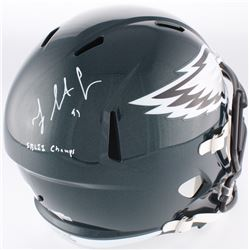 "Fletcher Cox Signed Eagles Full-Size Speed Helmet Inscribed ""SB LII Champs"" (Fanatics Hologram)"