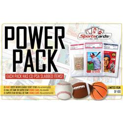 """POWER PACK"" – HOF/Star Rookie Card, 1920's Ticket Stub  HOF/Star Signed Card! (3) Per Pack!"