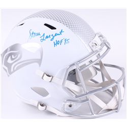 "Steve Largent Signed Seahawks Full-Size Speed White Ice Helmet Inscribed ""HOF '95"" (JSA COA)"