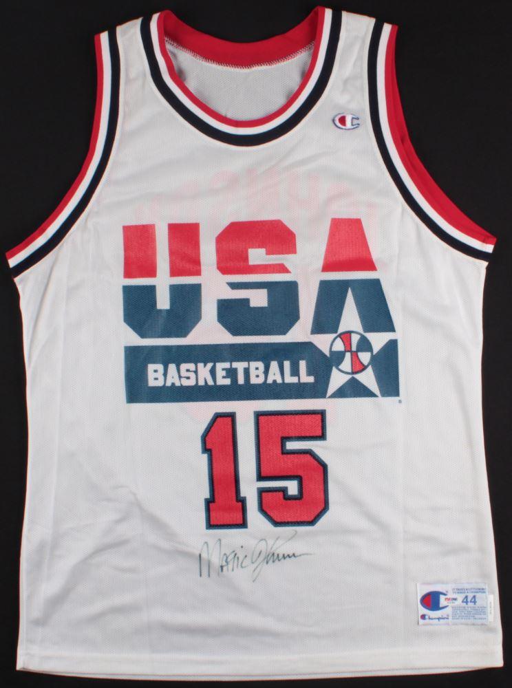 low priced 34212 50ff4 Magic Johnson Signed Team USA Jersey (PSA COA)