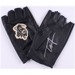 "Tommy Flanagan Signed ""Sons of Anarchy"" Biker Gloves (Radtke COA)"