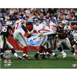 """Eli Manning Signed Giants """"Great Escape"""" Super Bowl XLII 16x20 Photo (Steiner Hologram)"""
