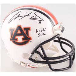 "Chris Davis Jr. Signed Auburn Tigers Mini-Helmet Inscribed ""Kick Six"" (Radtke COA)"